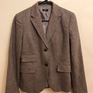 J. Crew jacket for women, wool,  with arm patch